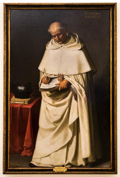 Francisco de Zurbaran: Bruder Pedro Machado [1598-1664, Academia de Bellas Artes, Madrid]