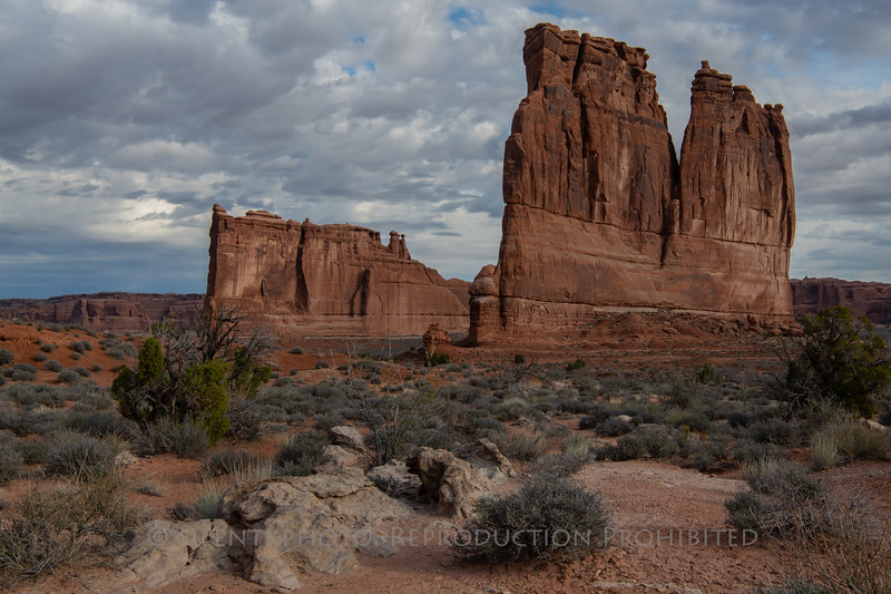 Courthouse Tower, Arches National Park, Moab Utah