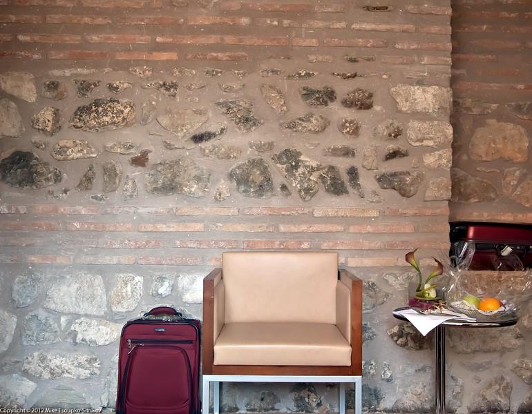 Room at Hotel Vestibul with original Diocletian's Palace wall