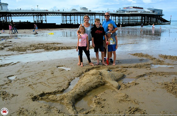Chalk on the prom and Sand Sculptures