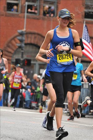 Amanda runs the Marathon