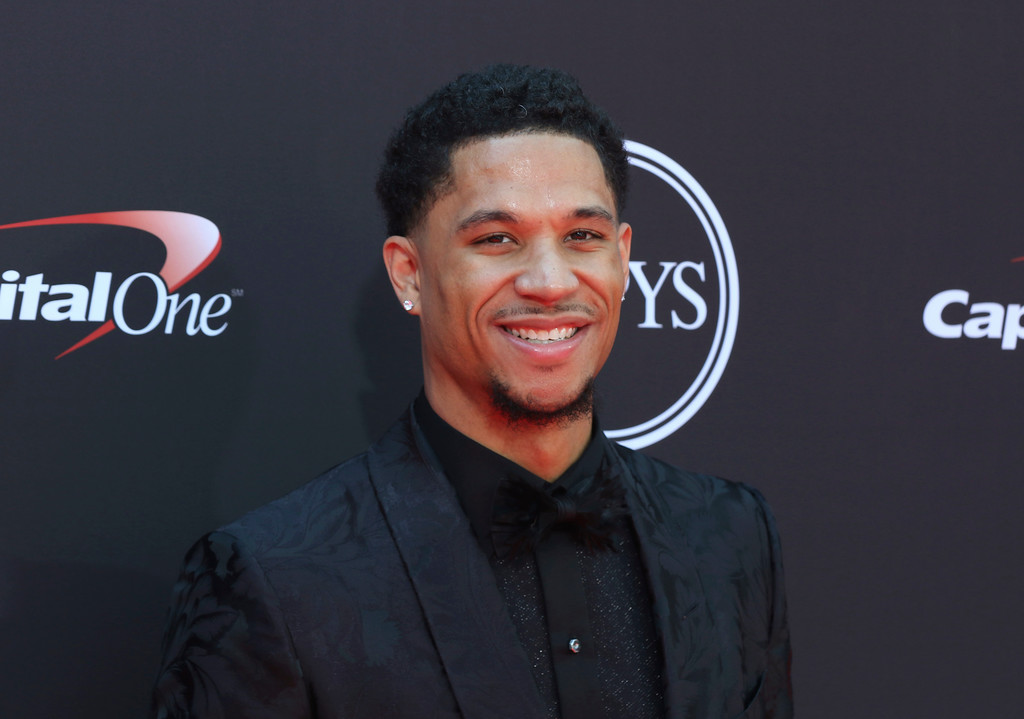 . Los Angeles Lakers\' Josh Hart arrives at the ESPY Awards at Microsoft Theater on Wednesday, July 18, 2018, in Los Angeles. (Photo by Willy Sanjuan/Invision/AP)