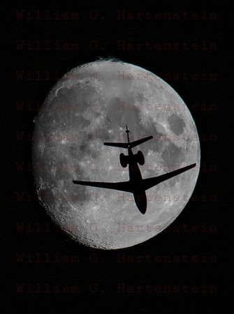 Aircraft Crossing the Moon