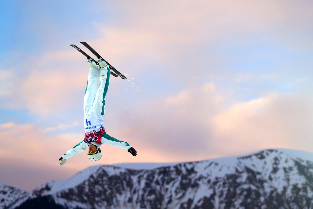 . Lydia Lassila of Australia competes in the Freestyle Skiing Ladies\' Aerials Qualification on day seven of the Sochi 2014 Winter Olympics at Rosa Khutor Extreme Park on February 14, 2014 in Sochi, Russia.  (Photo by Mike Ehrmann/Getty Images)
