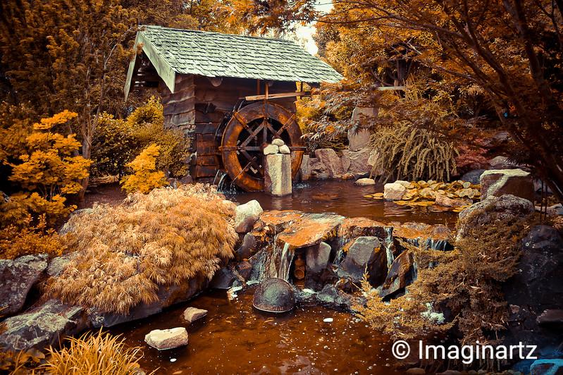 Water wheel at the Royal Hobart Botanical Garden - Bronze Look