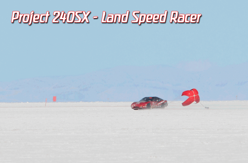 Bonneville World of Speed MotoIQ Project 240sx spin at 193mph