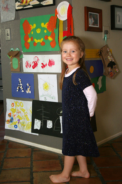 10/30 - Lili brings a lot of  art home from preschool