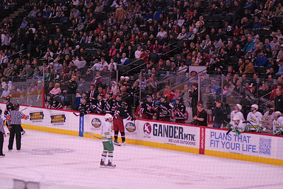 2011 03 11:  Day 2, MN Boys AA  Hockey Tourney, Duluth East v Edina, East wins 2-1 in OT, goes to finals