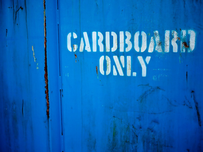 16 June 2010: A dumpster by work. I like the blue (which I admit is more vibrant here then than it actually is).