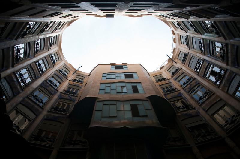 Mila House, also known as La Pedrera (by A. Gaudi), town of Barcelona, autonomous commnunity of Catalonia, northeastern Spain