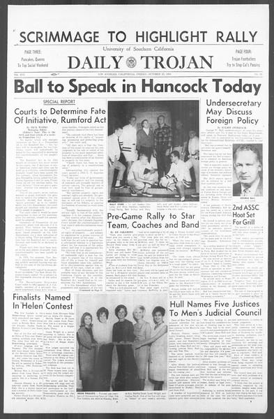 Daily Trojan, Vol. 56, No. 25, October 23, 1964