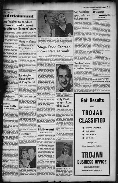Southern California Trojan, Vol. 35, No. 2, July 07, 1943