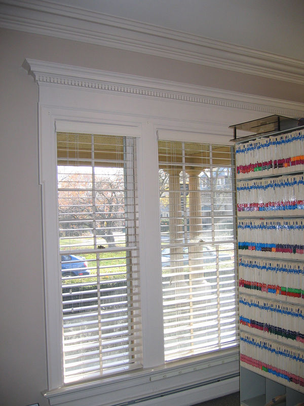 "2 1/2"" Wood Blinds (open)"