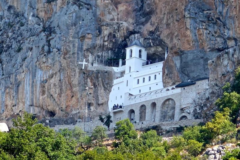 Ostrog Monastery in central Montenegro