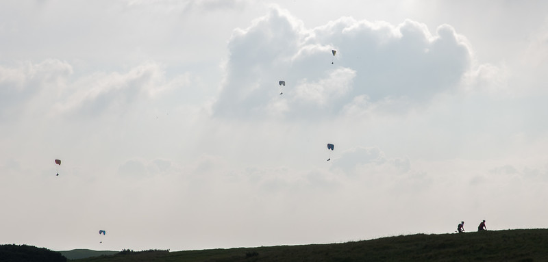 Paragliders mostly kept out of our way