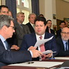 Gibraltar - 11th December 2014 - The Chief Minister Fabian Picardo today signed an agreement with Bouygues Energy Services for the construction and first year maintenance of the new Liquid Natural Gas Power Station.  The power plant will cost the Government £77 million with a further cost for maintenance during a period of time immediately after the construction of the plant. The signing of the agreement took place at Number Six Convent Place.