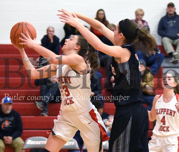 28022 Slippery Rock vs Moniteau girls basketball game at Slippery Rock High school