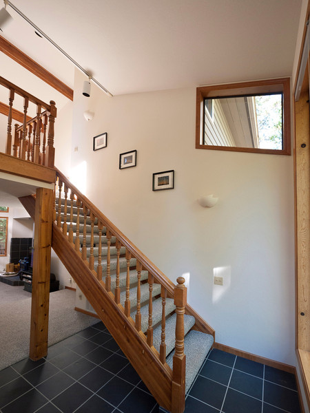 Stairs and foyer from the front door.