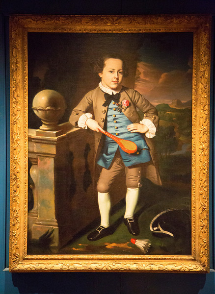 Painting of an odd Man/Boy in the Massachusetts Room