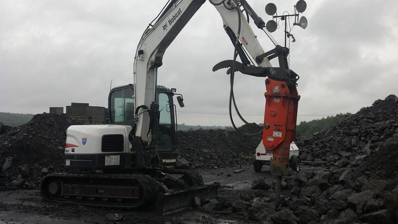 NPK GH4 hydraulic hammer on Bobcat  mini excavator (7-20-12) (5).jpg