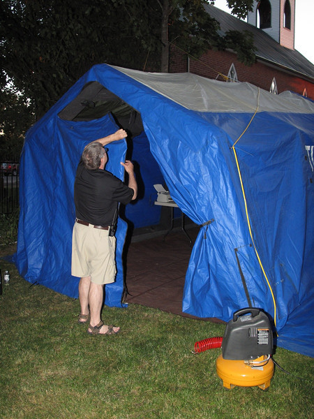 Tulmar inflatable shelter is back up.  We just need to add air every once in a while...