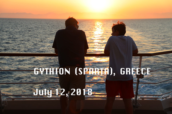 Gythion/Sparta  July 12, 2018