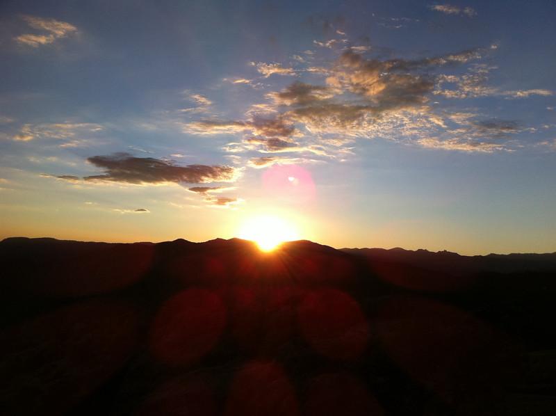Perpendicular Peak summit view.  Sunset.