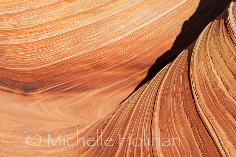 Detail of The Wave, Paria Canyon-Vermillion Cliffs Wilderness, Arizona-Utah Border.