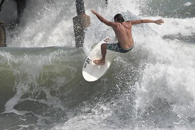 Cocoa Beach Pier Hurricane Epsilon 10-22-20