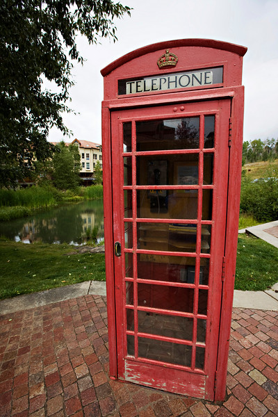 Telephone booth in Mountain Village.