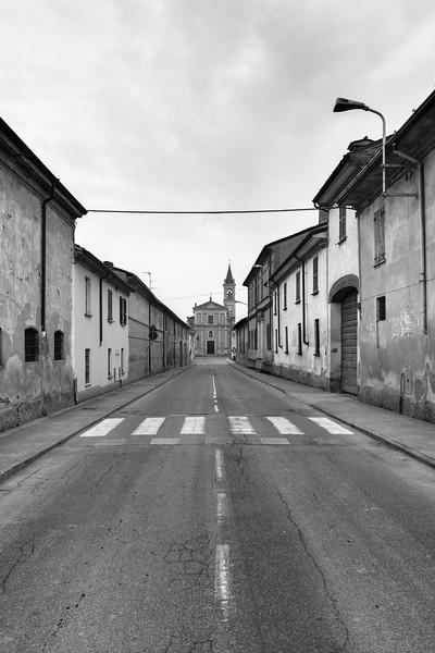 Strada Provinciale 70 - Drizzona, Cremona, Italy - March 24, 2015