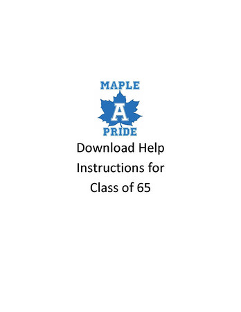 Download Help for Class of 65