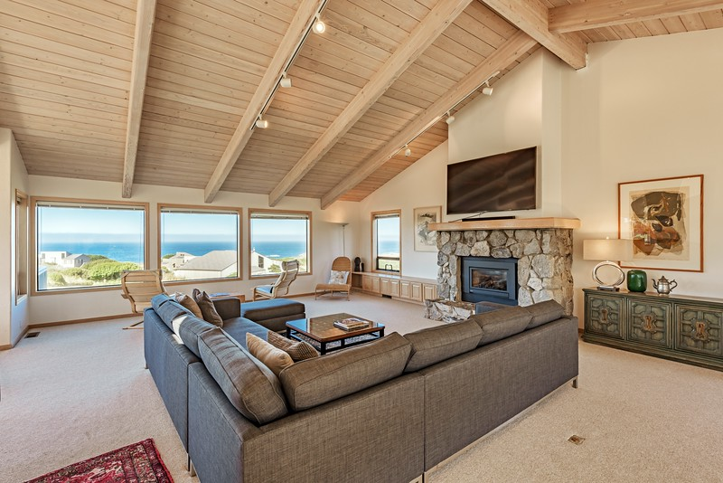 Living Room with Ocean Views