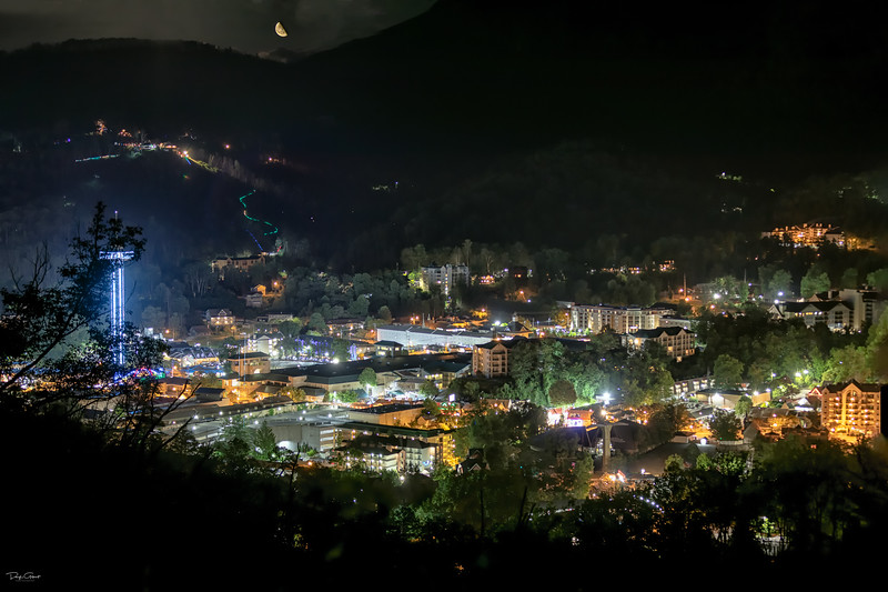 """Gatlinburg by Moonlight"""