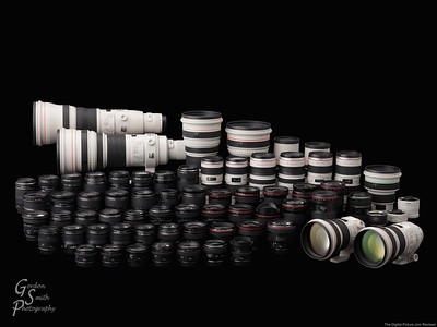 Lots of Canon Lenses