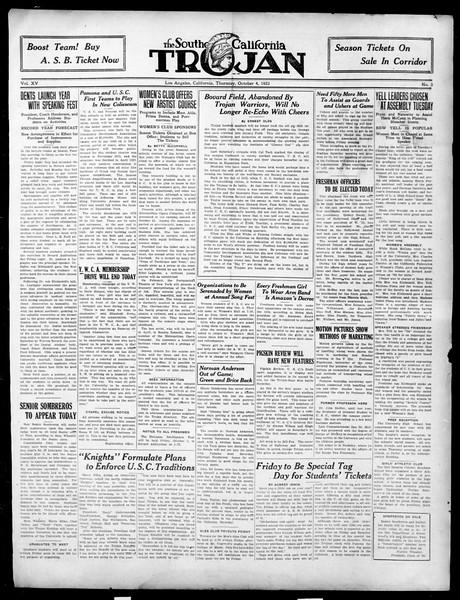 The Southern California Trojan, Vol. 15, No. 5, October 04, 1923
