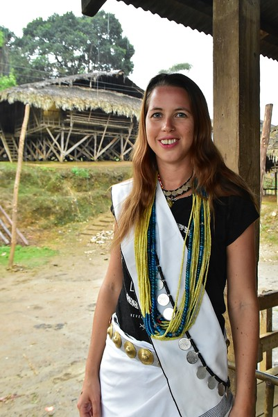 Anna Phipps in Galo tribe dress in Arunachal Pradesh.jpg
