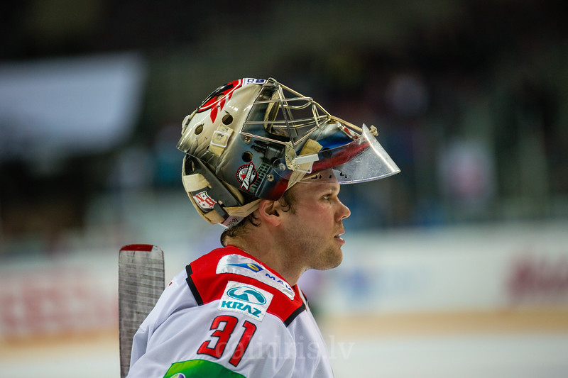 Goaltender of Donbass Donetsk Christopher Holt (31)