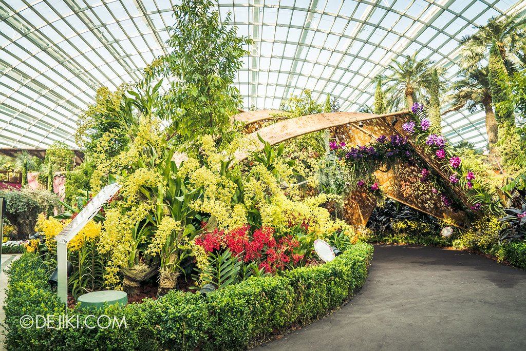 Gardens by the Bay Flower Dome - Orchid Extravaganza Floral Display 2017 / Chrysalis entrance