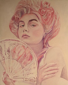 """""""The Muse"""" (acrylic, pencil, marker) by Niki Croom"""