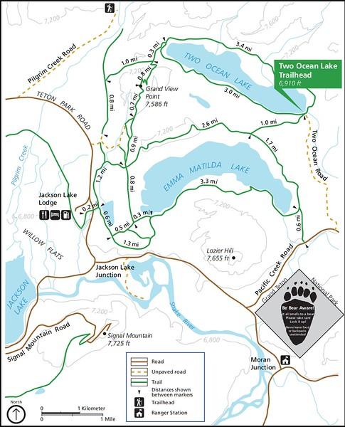 Grand Teton National Park (Two Ocean Lake Trailhead)