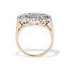 1.64ctw Vintage Princess Style Oval Cluster Ring 3