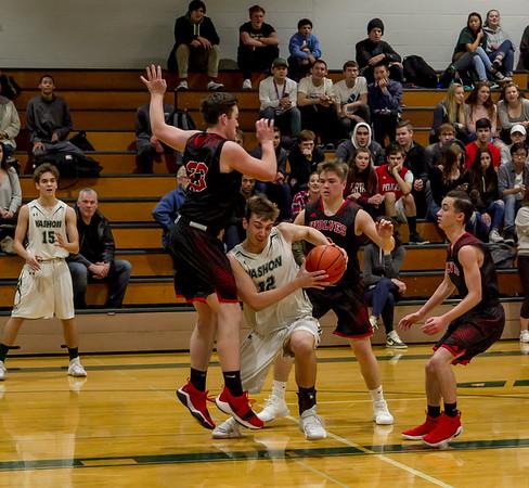 First-Second Quarter Set two: Boys Varsity Basketball v Coupeville