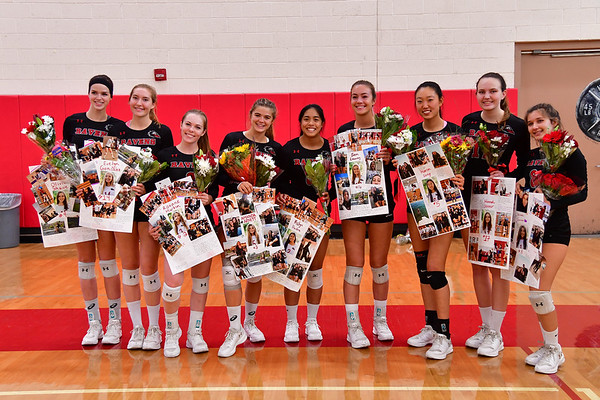 CCA VB Senior Night, 10-16-18