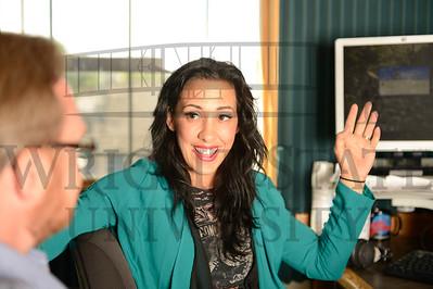 12138 Gina Ferraro Alumna at Mix 107.7 9-3-13