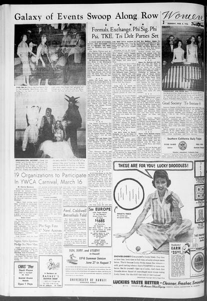 Daily Trojan, Vol. 47, No. 91, March 08, 1956