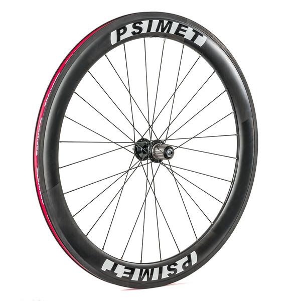 Rear wheel side shot #2 - PSIMET Carbon Road Wheelset