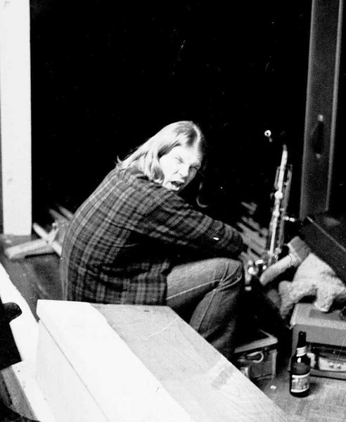 Dan Riggs at the Gray Chapel concert, 1972.