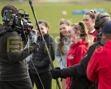 Stradey Sospans U15 filming with S4C