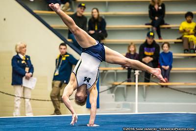 Floor - UM Men's Gymnastics Vs UIC 3-26-16